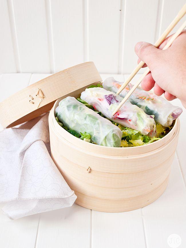 Jaleo en la Cocina: Ya llega el Sol... ¿Qué tal un aperitivo fresco?. rollitos vietnamitas