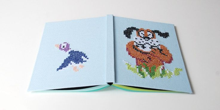 Notebooks & Notepads – Duck Hunt nintendo 8bit, embroidered, A5 – a unique product by Kajet on DaWanda