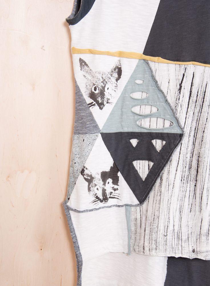 Blouse/dress 'Kite'. One&Only Piece.  100% Organic Cotton.  #heelathenslab #heelathens #recyclingcollection #recycling #kite #handpainted #oneandonly #organiccotton #organicotton #blouse #madeingreece #weloveorganic
