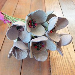 Upcycle old egg cartons into these beautiful and eco-friendly flowers.