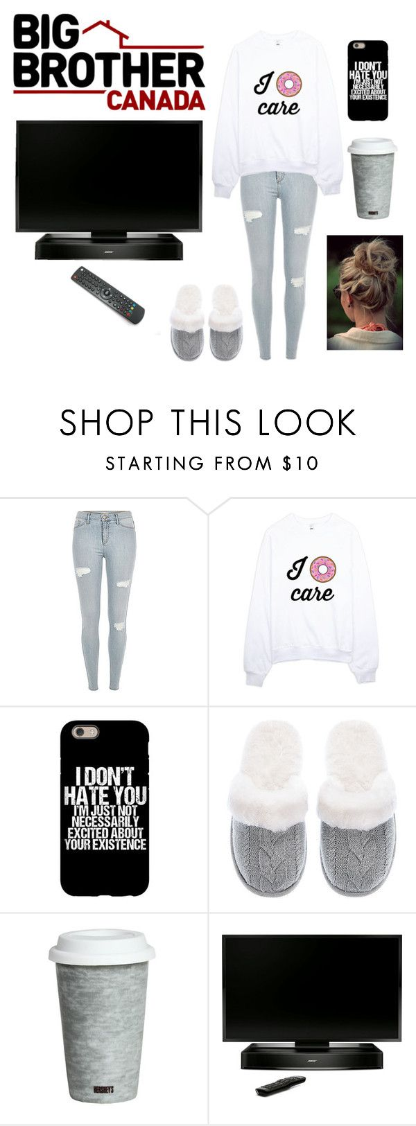 """Watching Big Brother Canada"" by desireewolfe ❤ liked on Polyvore featuring Victoria's Secret, Fitz and Floyd, Bose, canada, bigbrother and BBCAN"