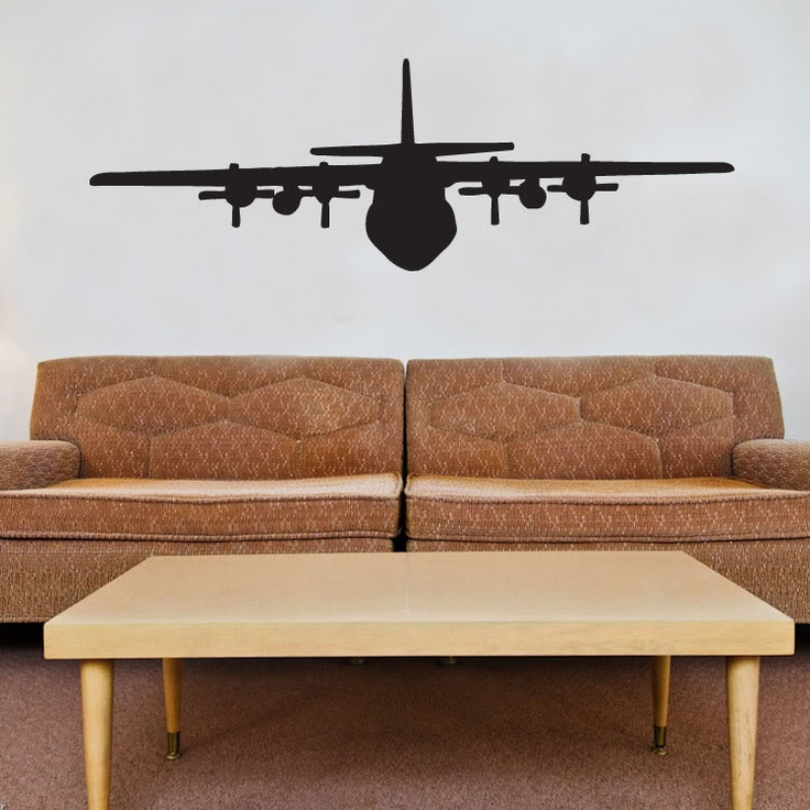 Details About Military C130 Airplane Vinyl Wall Window