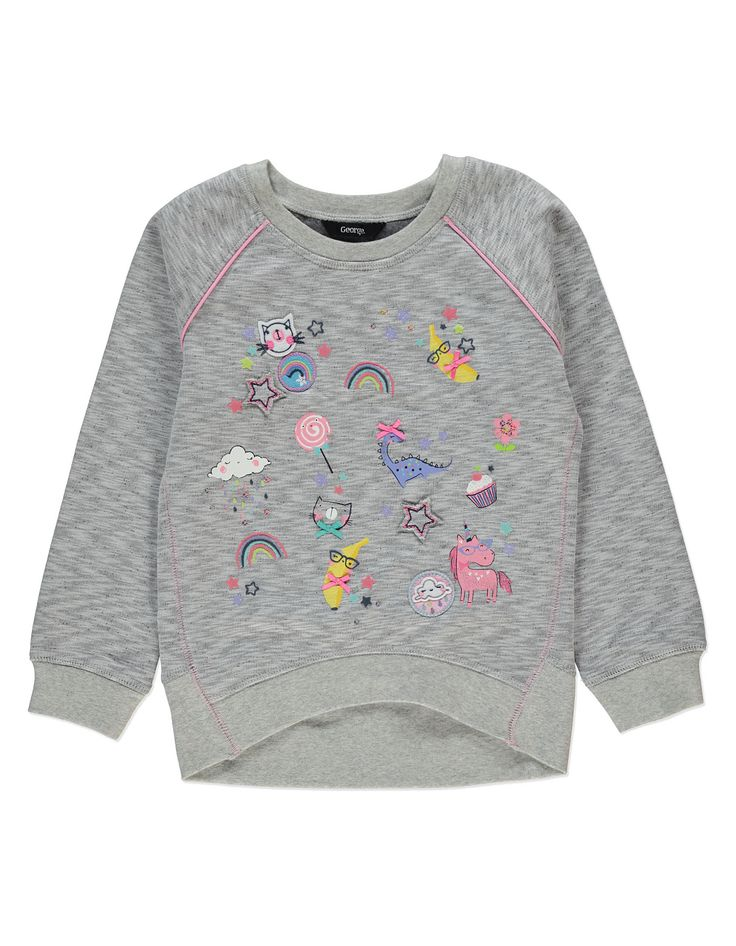 Embellished Patterned Sweatshirt | Kids | George at ASDA