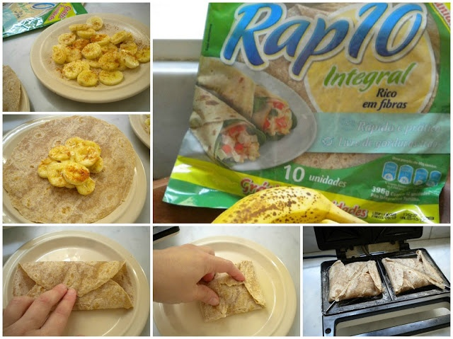 Tortinhas (muito) fáceis de banana