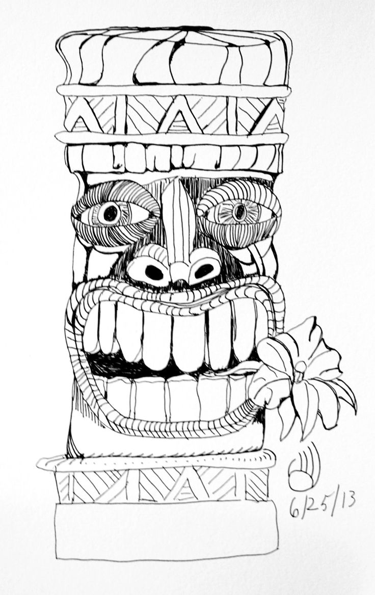 hawaiian totem pole coloring pages - photo#16
