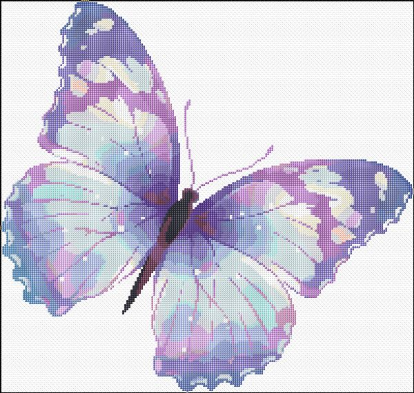 Cross Stitch | Butterfly xstitch Chart | Design