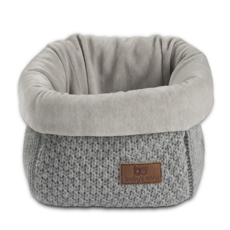 "Corbeille de rangement en maille grise ""Robust Mix"" by BABY'S ONLY"