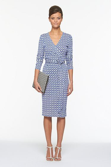 I'm Scraping Together Pennies For This DVF. I Don't Need A Vacation. I Need This Wrap Dress.