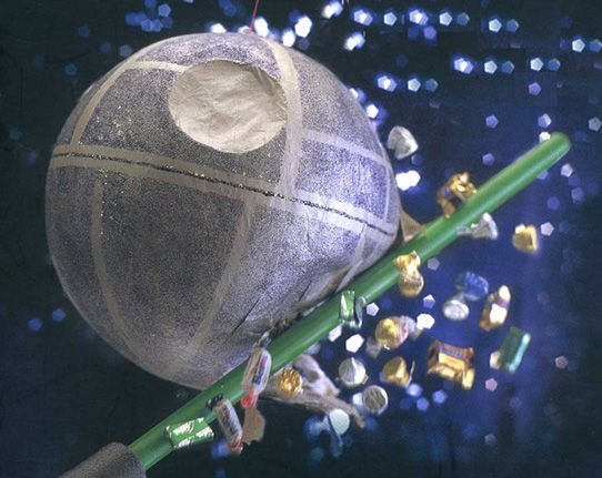 death star pinata... Gonna have to remember this when we get around to the Star Wars themed birthday!