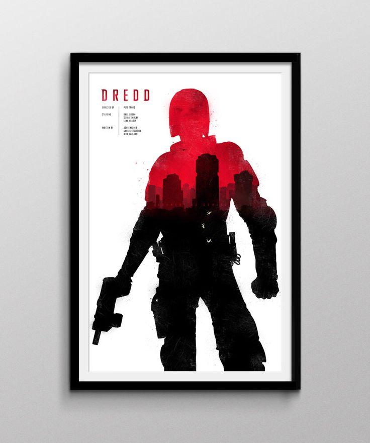 """Dredd Movie Poster 12X18"""" by Pixology on Etsy https://www.etsy.com/listing/196662590/dredd-movie-poster-12x18"""