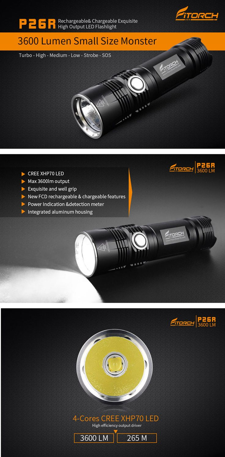 Fitorch P26R XHP70.2 3600Lumens FCD Rechargeable Portable LED Flashlight