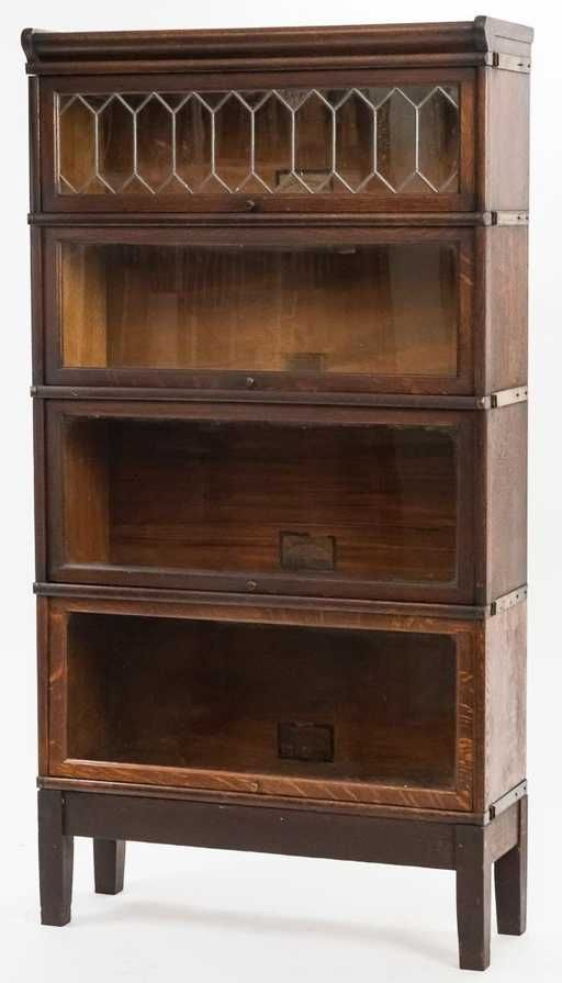 Lot: Globe Wernicke Oak Four Stack Bookcase, Lot Number: 0057, Starting Bid: $200, Auctioneer: Forsythes' Auctions, LLC, Auction: Forsythes Public Antiques Auction, Date: January 7th, 2018 PST