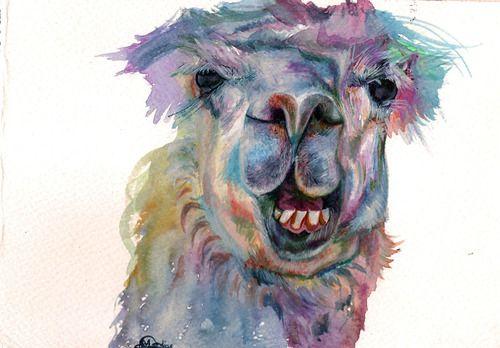 Llama  Watercolour on paper  21 x 14.8 cm