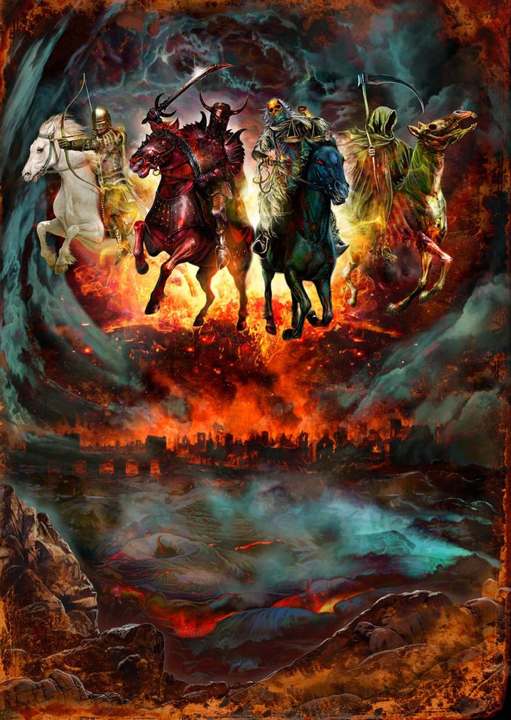 "End of Days:  ""Four Horsemen,"" by MarkWilkinson, at deviantART."
