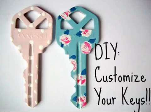 DIY Custom Keys - This Tutorial Explains How to Create a Beautifully Personalized Key Design (VIDEO)