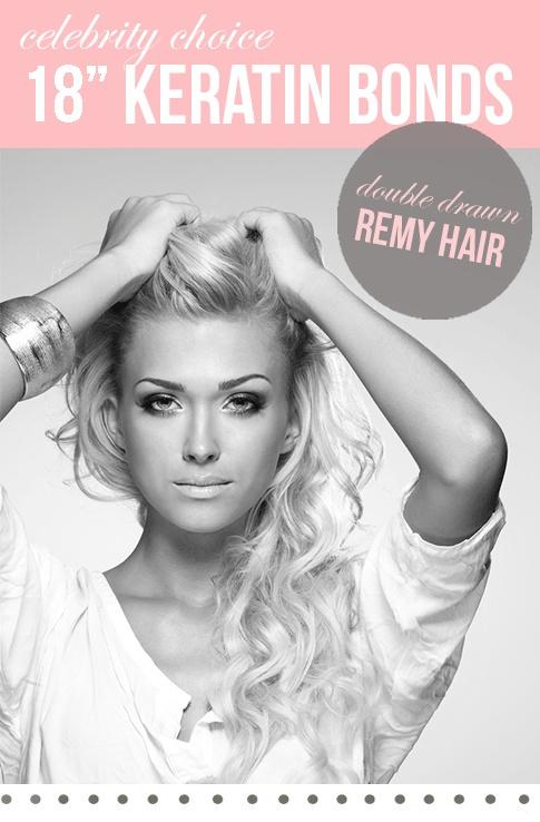 """18"""" Celebrity Choice Keratin Bonds   Hair Combat £69.99"""