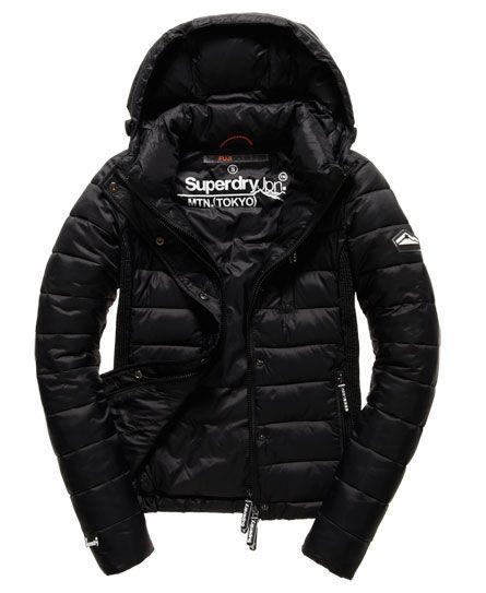 Superdry Hooded Fuji Slim Double Jacket Black