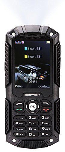IceFox (TM) Dual Sim Outdoor Handy,2,4 Zoll Display,IP68 Wasserdicht,Stoßfest, Rugged Handy Ohne Vertrag mit Lautem Lautsprecher und Fahrradlicht | Your #1 Source for Mobile Phones, MP3 Players & Accessories