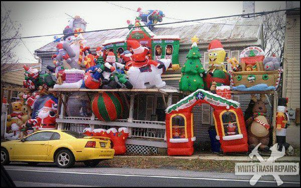 White Trash People At Walmart | What does it say when you own so many Christmas blow up decorations ...