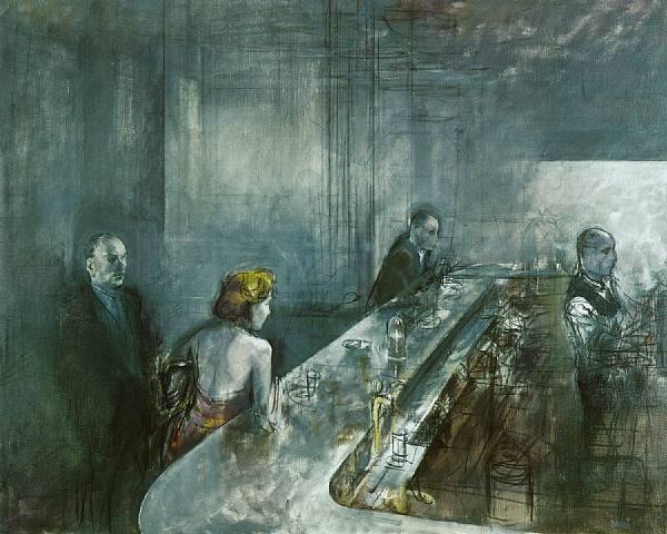 Caffe' di notte, Notturno by Alberto Sughi