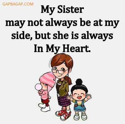 Funny Minion Quote About Sister vs. Heart