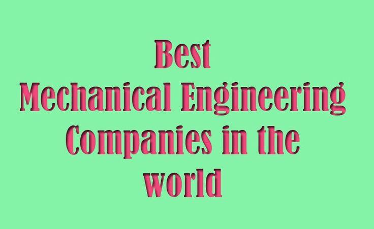 best mechanical engineering companies