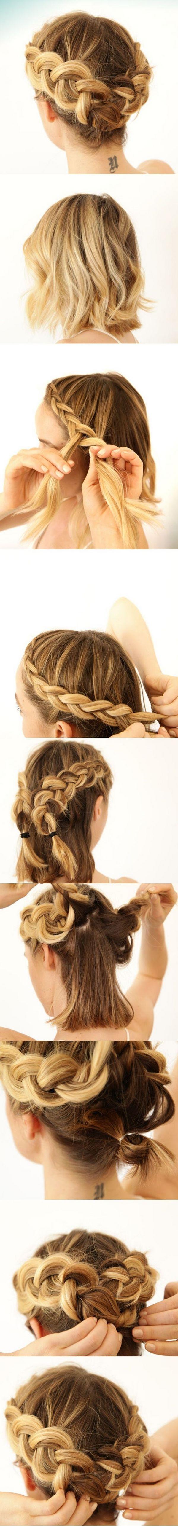 como hacer trenzas para cabello corto