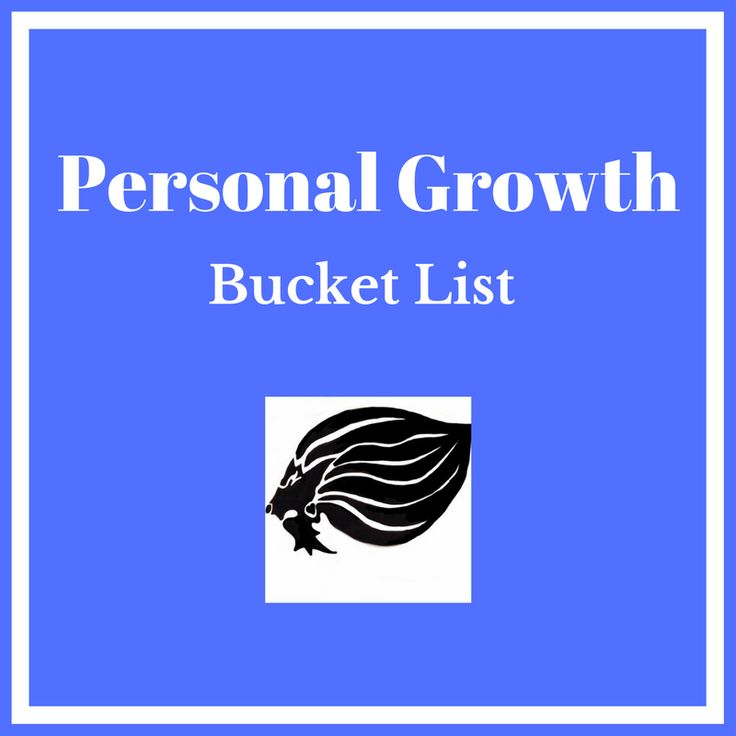 Personal Growth Bucket List - cover
