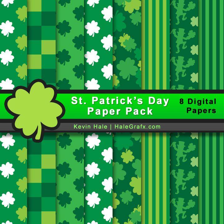 St Patricks Day Paper Pack FREE St. Patricks Day Digital Paper Pack