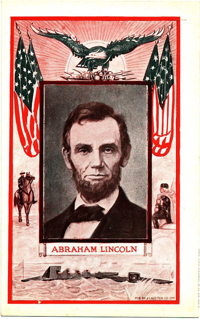 President Abraham Lincoln Patriotic Postcard Postcards