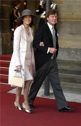 Carolina en la boda de Guillermo y Máxima de Holanda vestida de Chanel.