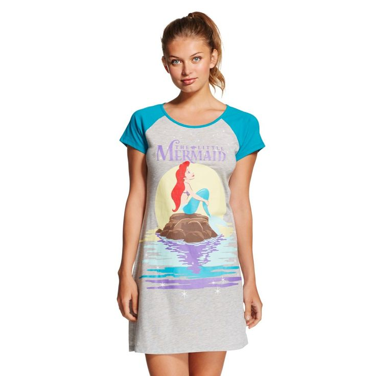Disney Women's Little Mermaid Sleep Chemise - Gray