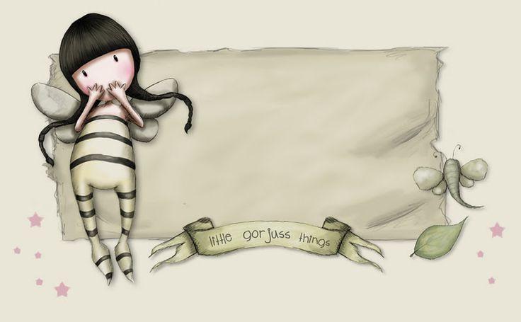Estas ilustraciones pertenecen a Suzzanne Wollcoot...y son muy usadas para adornar detalles para adolescentes,a mi me parecen simpáticas y b...