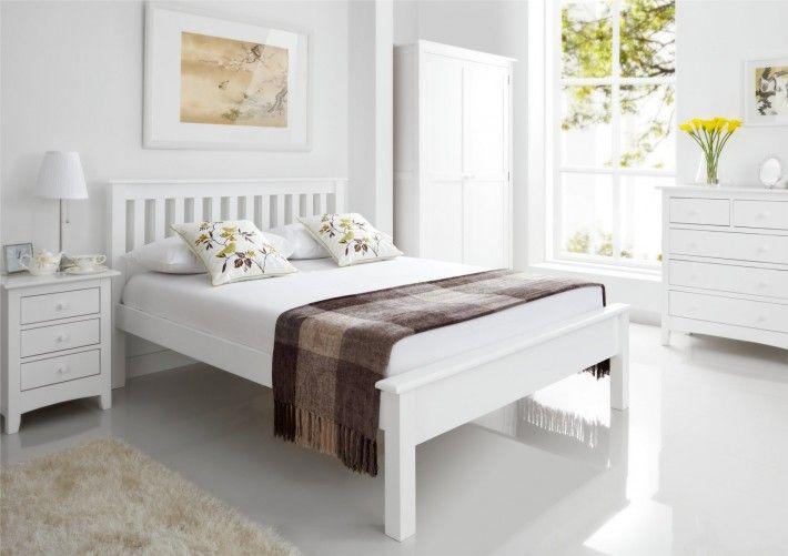 Shaker White Wooden Bed Frame LFE