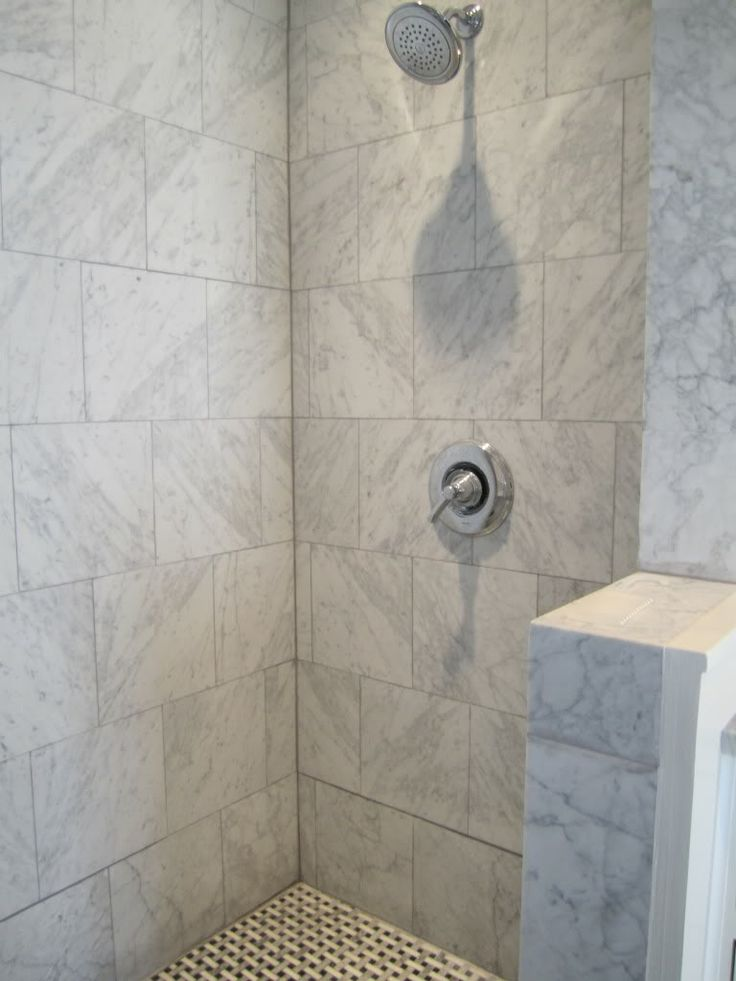 Brick Joint Shower Wall Tiles With Mosaic Floor Tiles