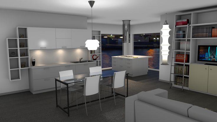 kitchen by night