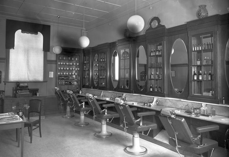 Malmros frisersalong, Storgatan 9. Foto: Werner Wångström 1930-tal.
