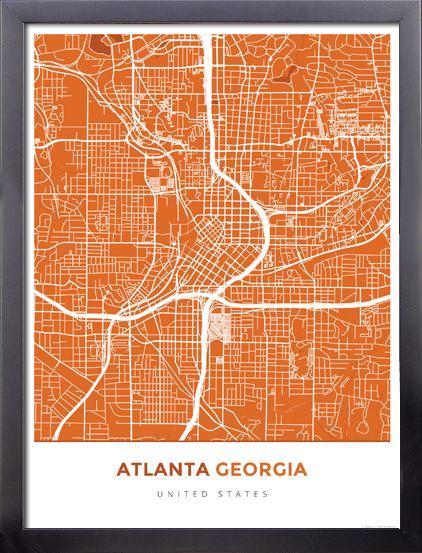 Best Atlanta Map Ideas On Pinterest - Simple map of georgia us