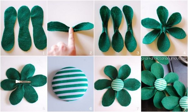 DIY Felt Flowers Tutorial