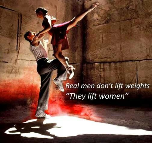 If you are a dancer you would totally understand this! Male dancers have to be so strong.