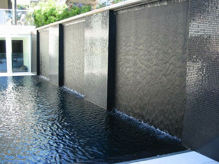 23 best images about water feature on pinterest wall for Waterfall tile design