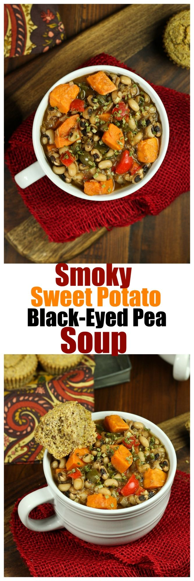 Just 8 ingredients for this whole 1 POT soup! Smoky, spicy and a touch of sweetness! So good, filling and healthy. Oil-free.
