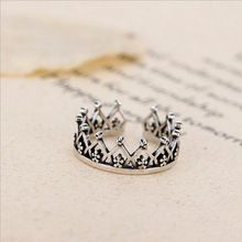 Temperament Retro 925 Sterling Silver Jewelry Thai Silver Crown Flower Hollow Open Female Accessories Ring SR238 //FREE Shipping Worldwide //