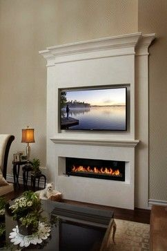 Linear fireplace mantel - modern - Living Room - Other Metro - Omega Mantels of Stone