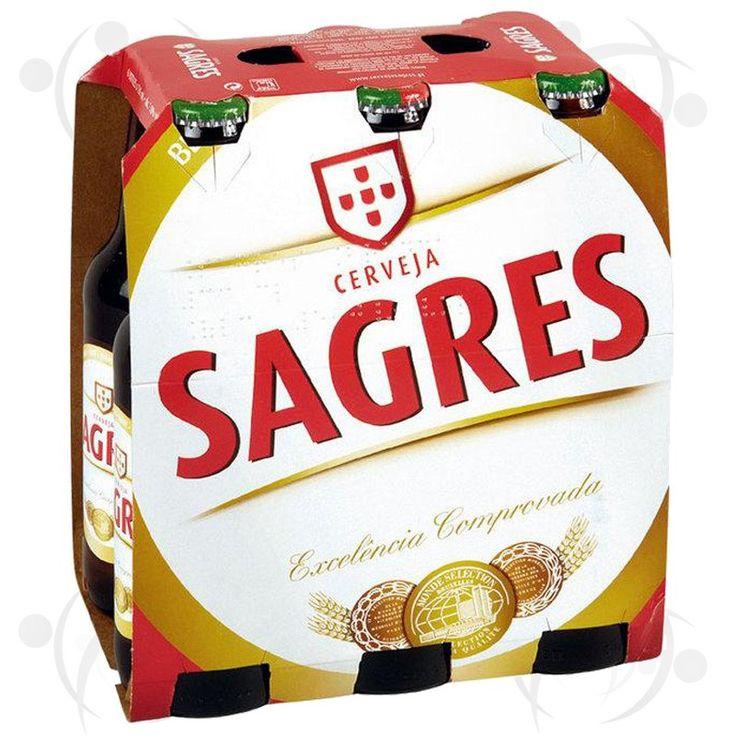 Bière blonde SAGRES pack de 6x33 cl