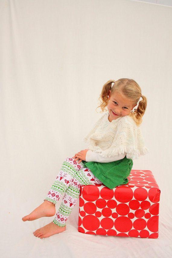 Christmas Leggings girls Christmas leggings reindeer by haddygrace