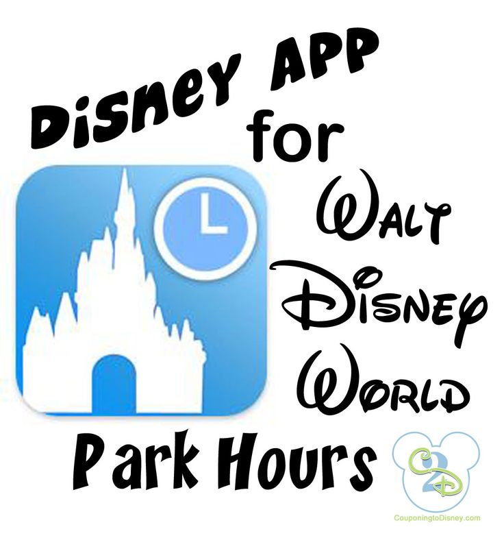 Before you go to Disney, download this app so you'll always know the park hours!