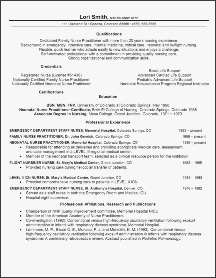 20 Emergency Room Nurse Resume in 2020 (With images
