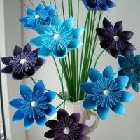 Букет созданный из цветов оригами