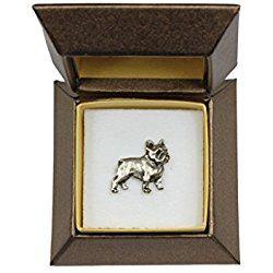 French Bulldog, dog pin, badge, brooch, in box, casket, limited edition, ArtDog